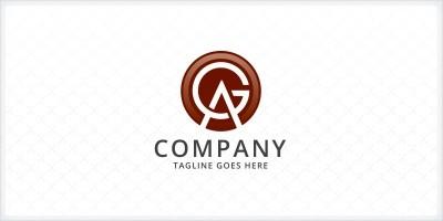 Letters AG GA Logo