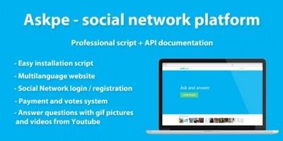 Askpe - Social Network PHP Script