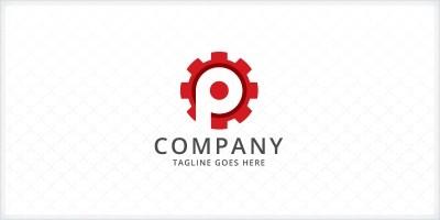 Letter P Gear Logo