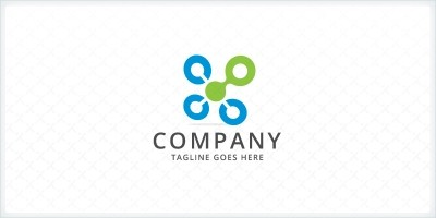 Connecting Dots - Technology Logo