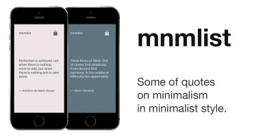 Mnmlist - iOS Quotes App Source Code