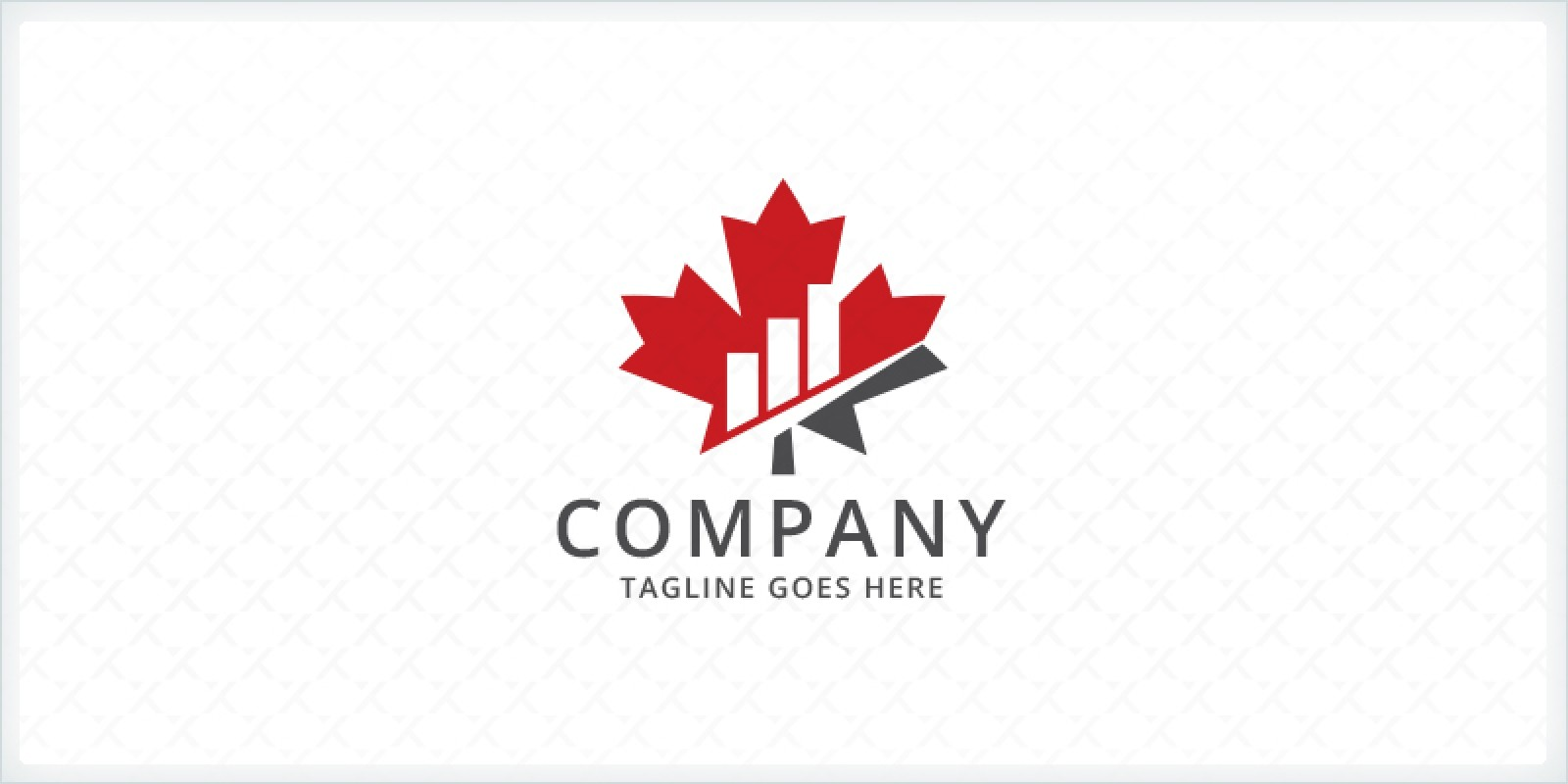 Maple Leaf Bar Charts - Financial Logo