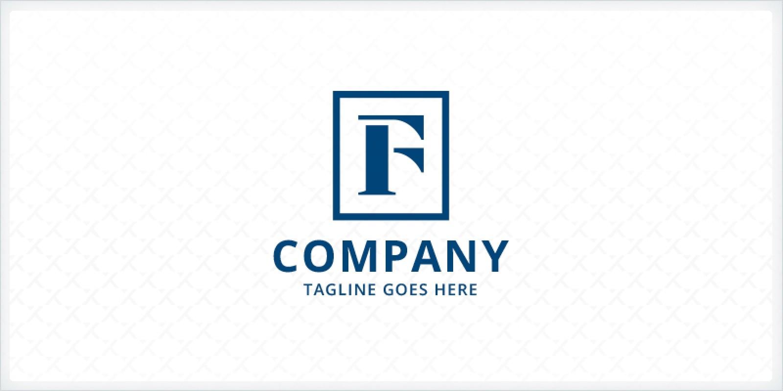 Letter F Frame Logo