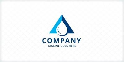Letter A Droplet Logo