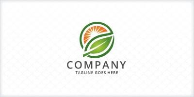 Leaf and Sun Logo
