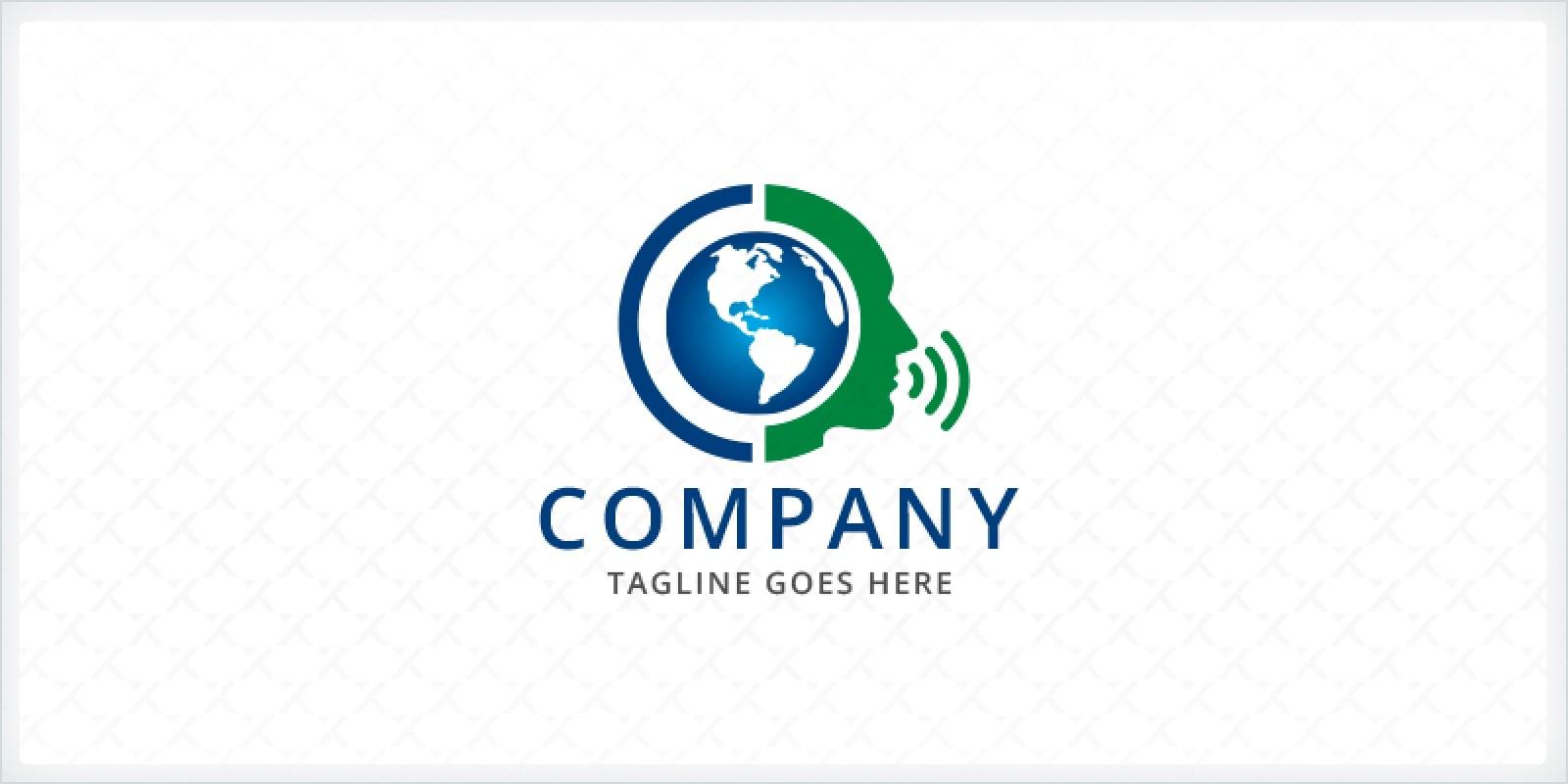 Globe and Head Logo