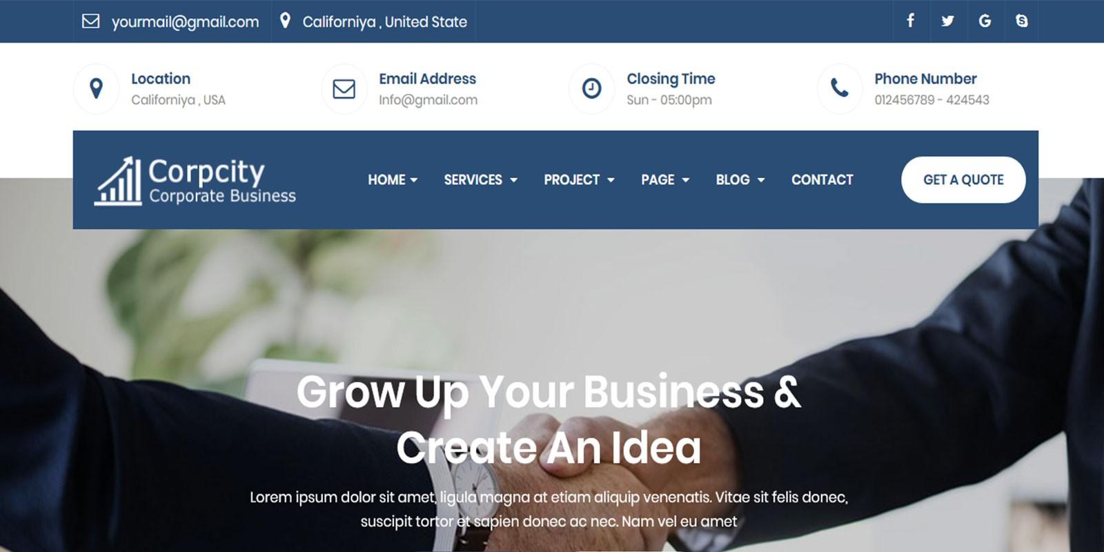 Corpcity - Corporate Business Template