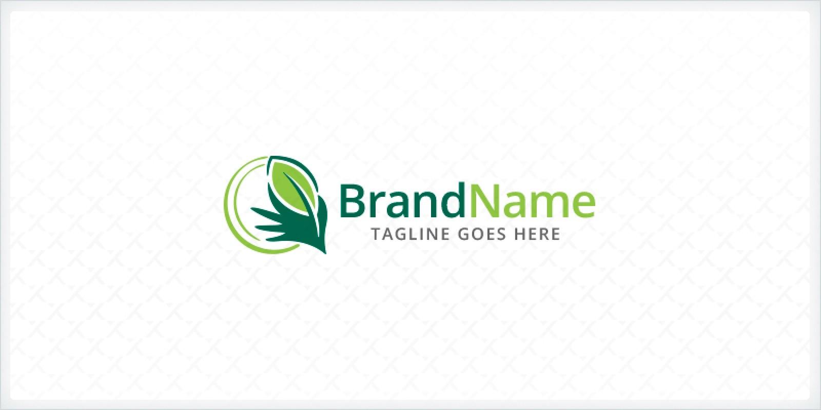 Hand Picking Leaf Logo