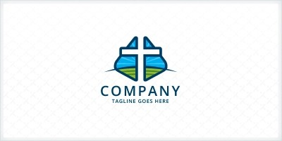 Cross Scenery - Church Logo