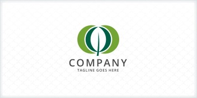 Overlapping Circle - Leaf Logo