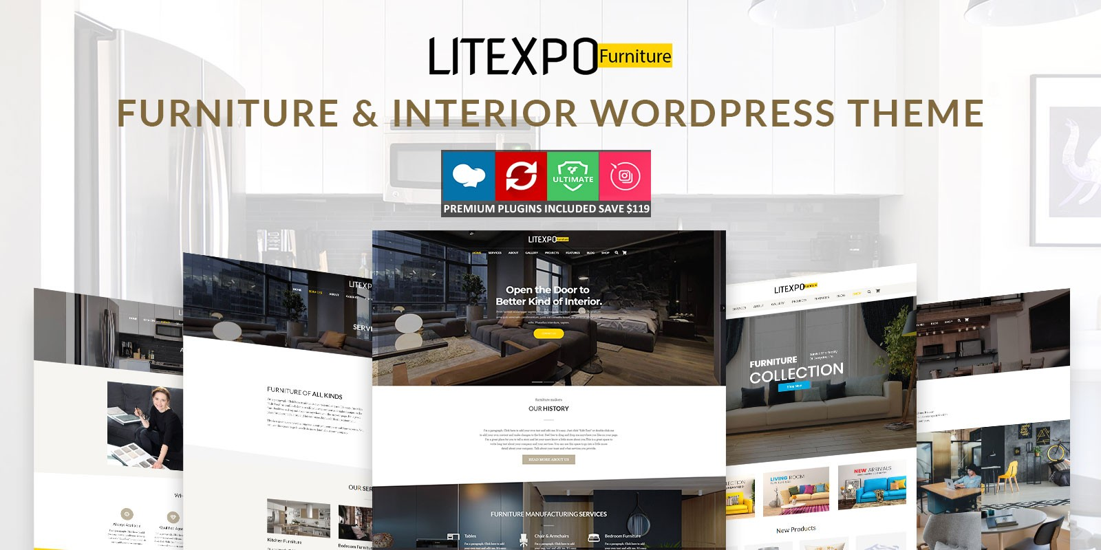 Litexpo - Furniture And Interior WordPress Theme