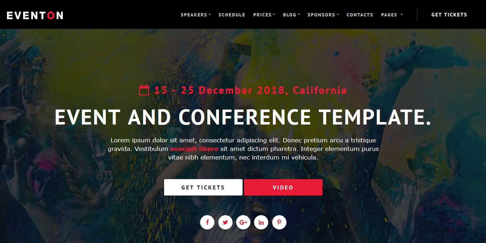 EventOn - Event HTML Template - Miscellaneous HTML Website Templates ...