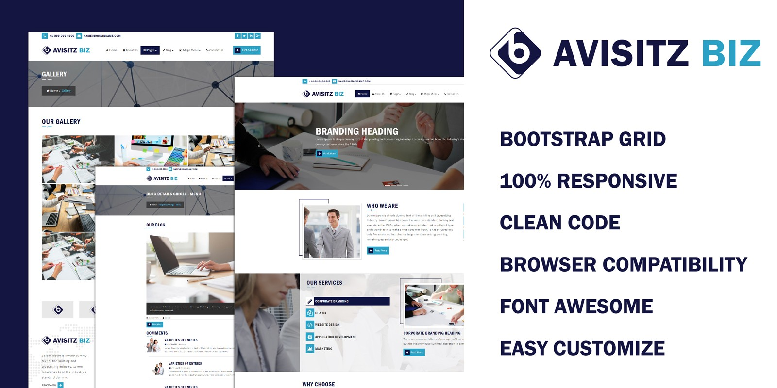 Avisitz Biz - Business Technology HTML5 Responsive