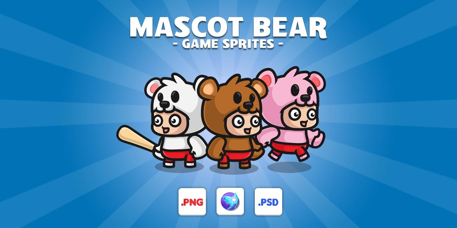 Mascot Bear Game Sprites
