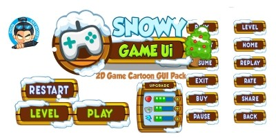 Snowy Cartoon Game Ui Set 04