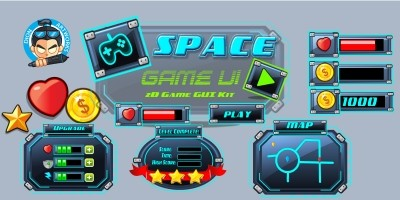 Space Game Ui Set 08