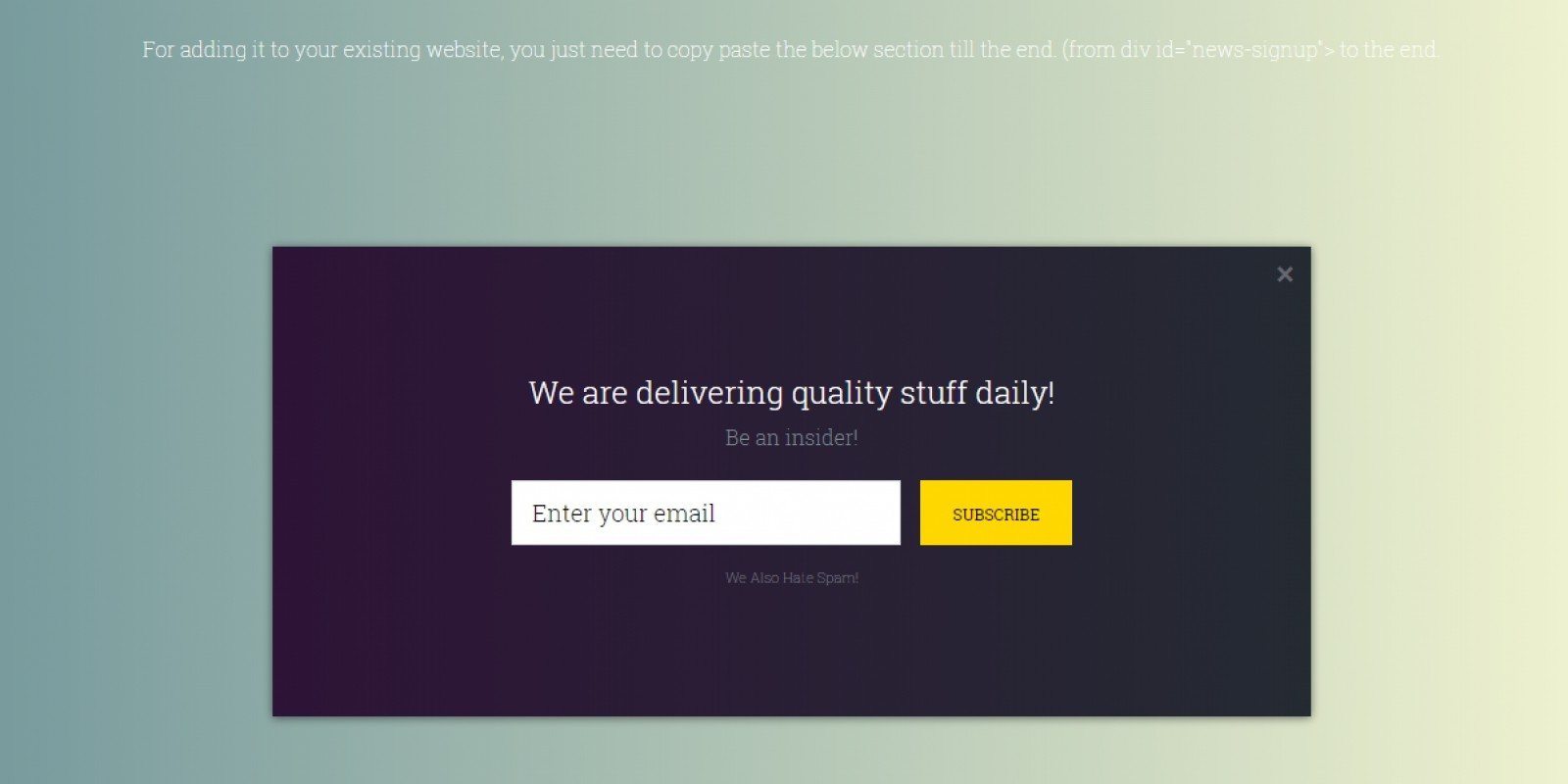 Exit-Intent Email Opt-in