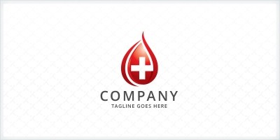 Blood Donation - Medical Logo