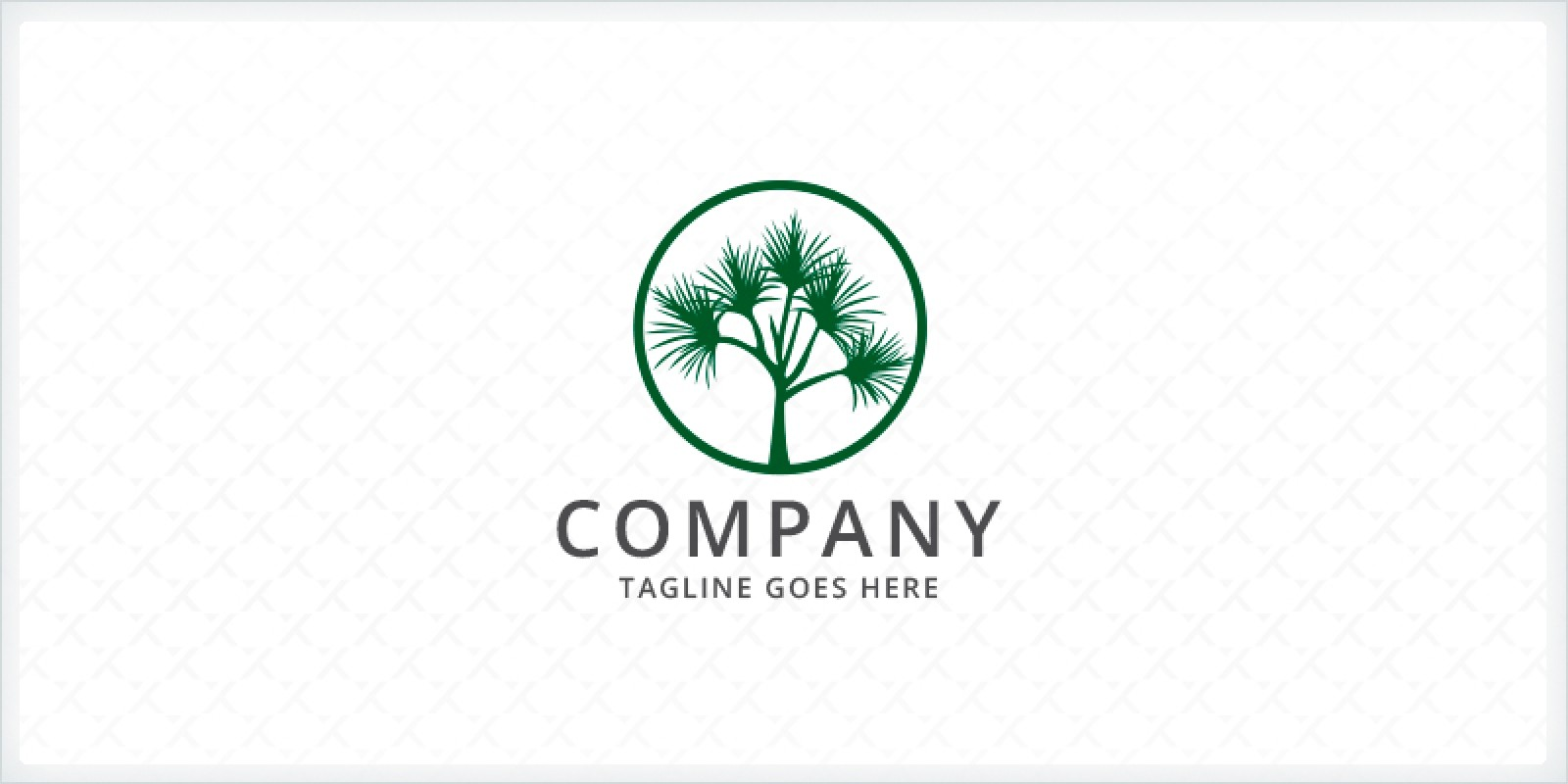 Pandanus - Palm Tree Logo