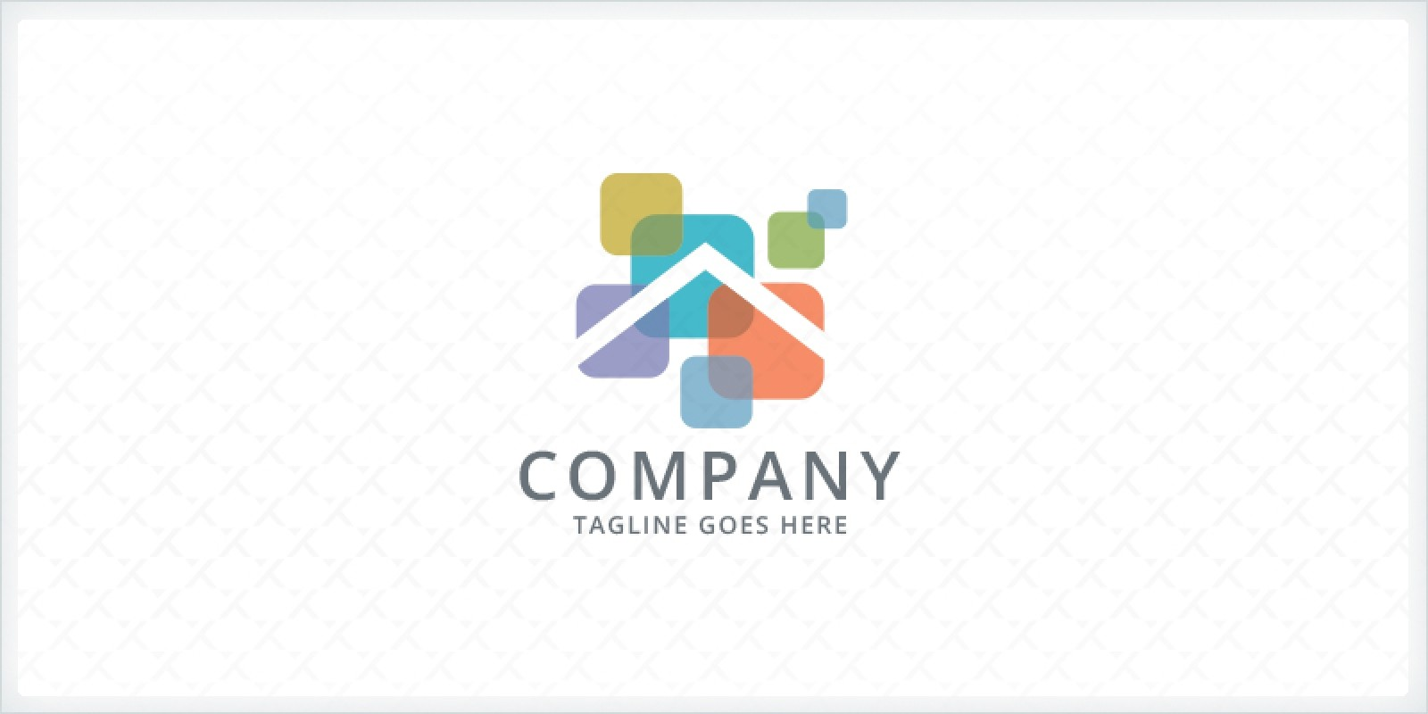 Overlapping Squares - Home Remodeling Logo