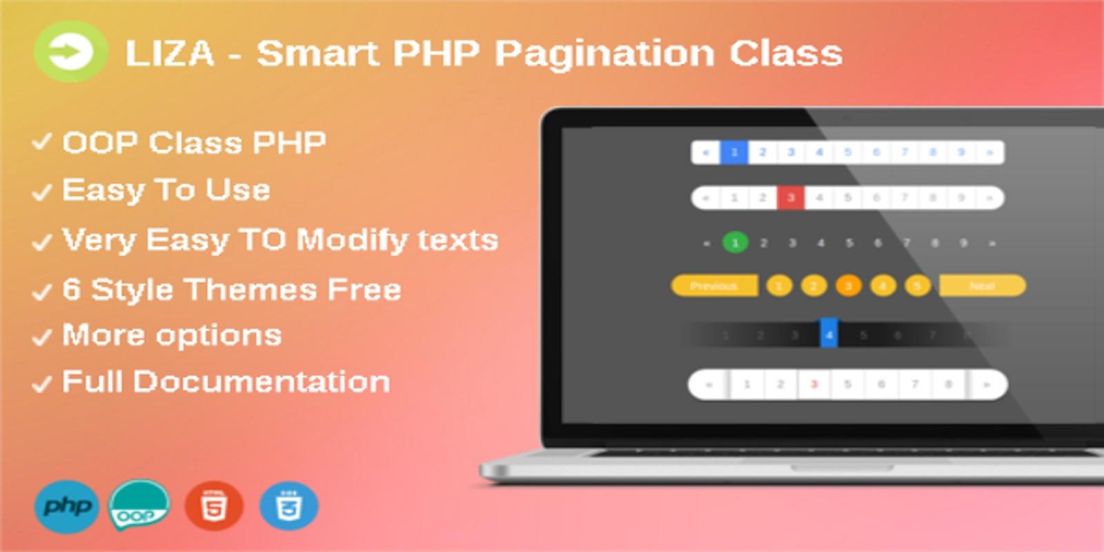 Liza - Smart PHP Pagination Class