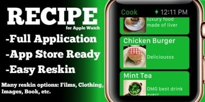 Recipe App - Apple Watch iOS Source Code