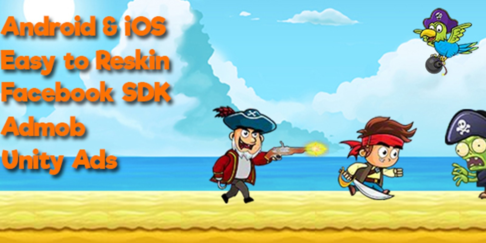 Pirate Run Away Unity Source Code