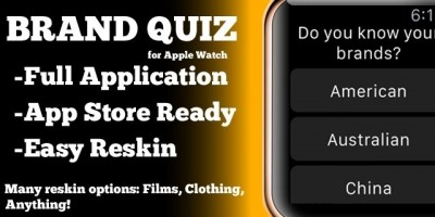 Brand Guessing Game - Apple Watch iOS Source Code