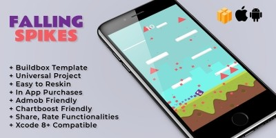 Falling Spikes - Buildbox Template