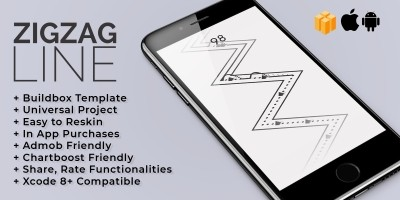 ZigZag Line - Buildbox Template