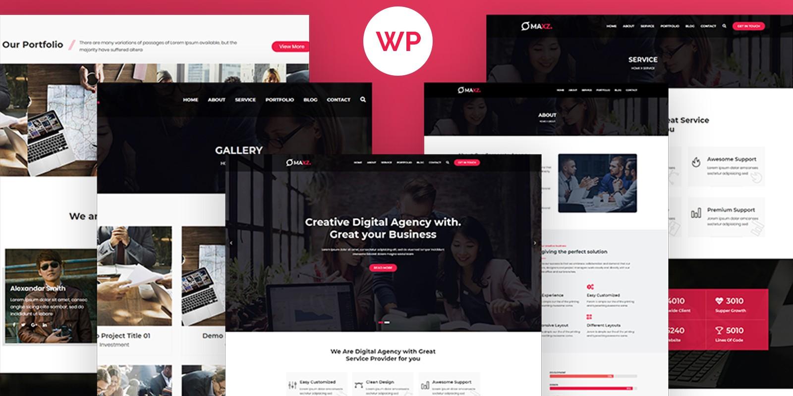Maxz - Corporate WordPress Theme