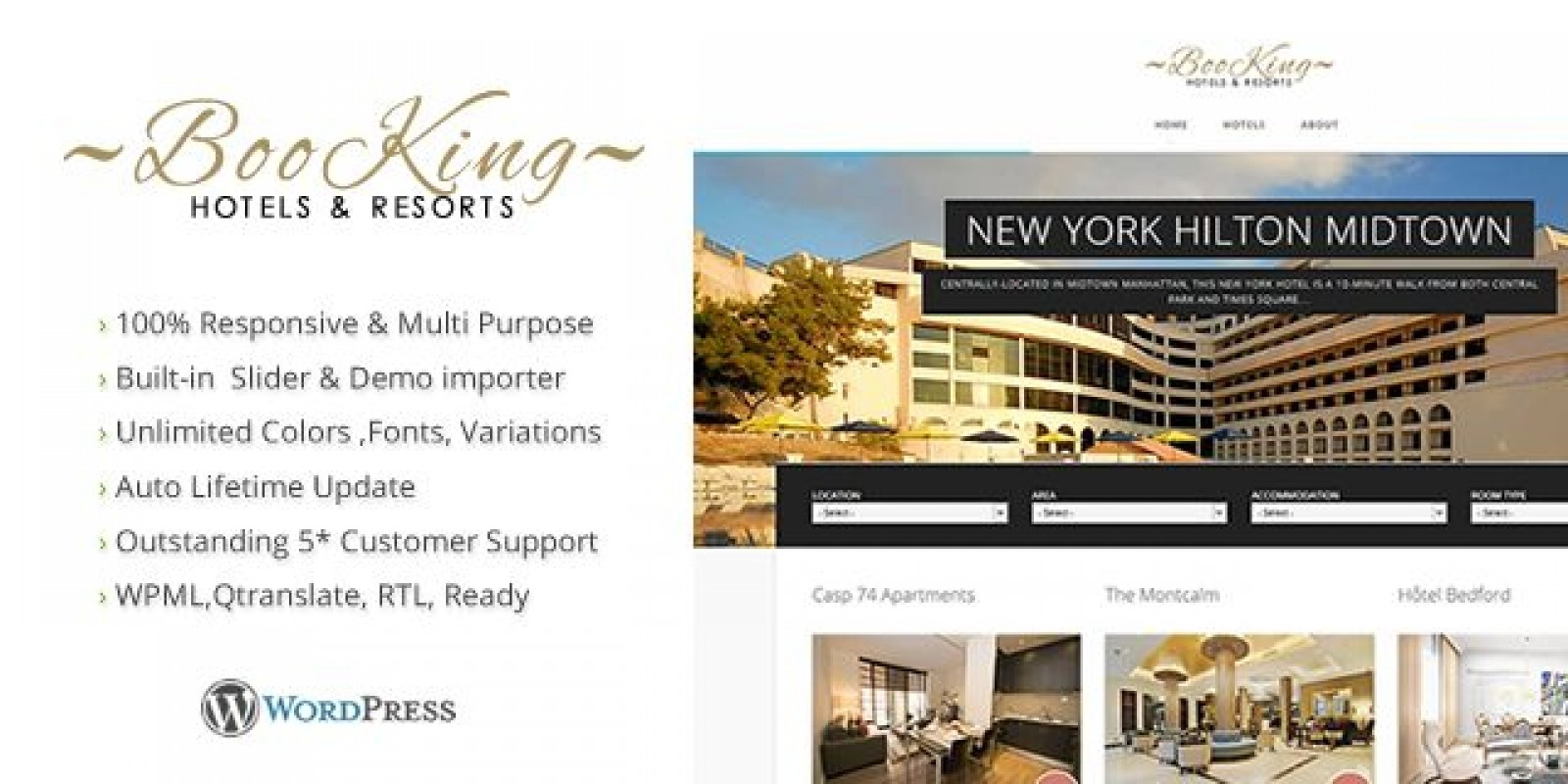 Booking - Hotel & Resort WordPress Theme