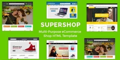 SuperShop - Multipurpose E-Commerce HTML Template