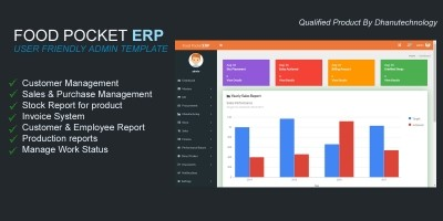 Food Pocket ERP Script PHP
