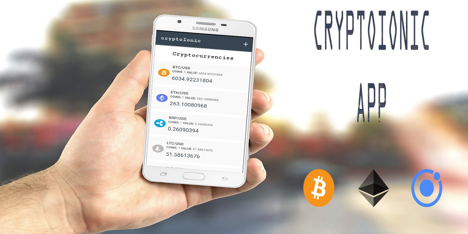 Ionic 4 Crypto Cryptocurrency App