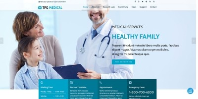 TPG Medical – Medical WordPress theme
