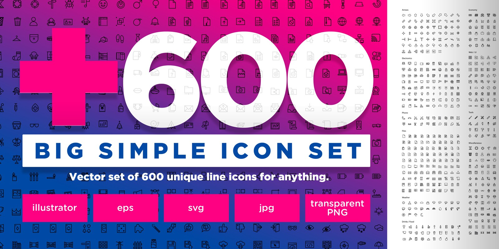Big Simple Icons