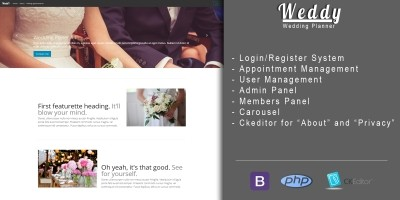 Weddy - Wedding Planner CMS PHP