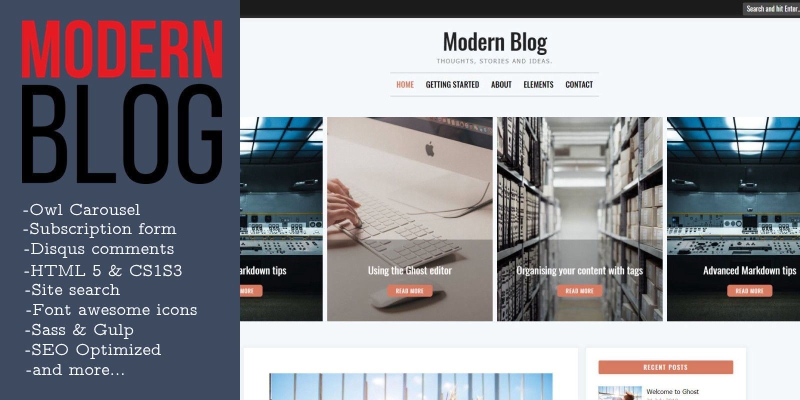 ModernBlog - Responsive Blogging Ghost Theme