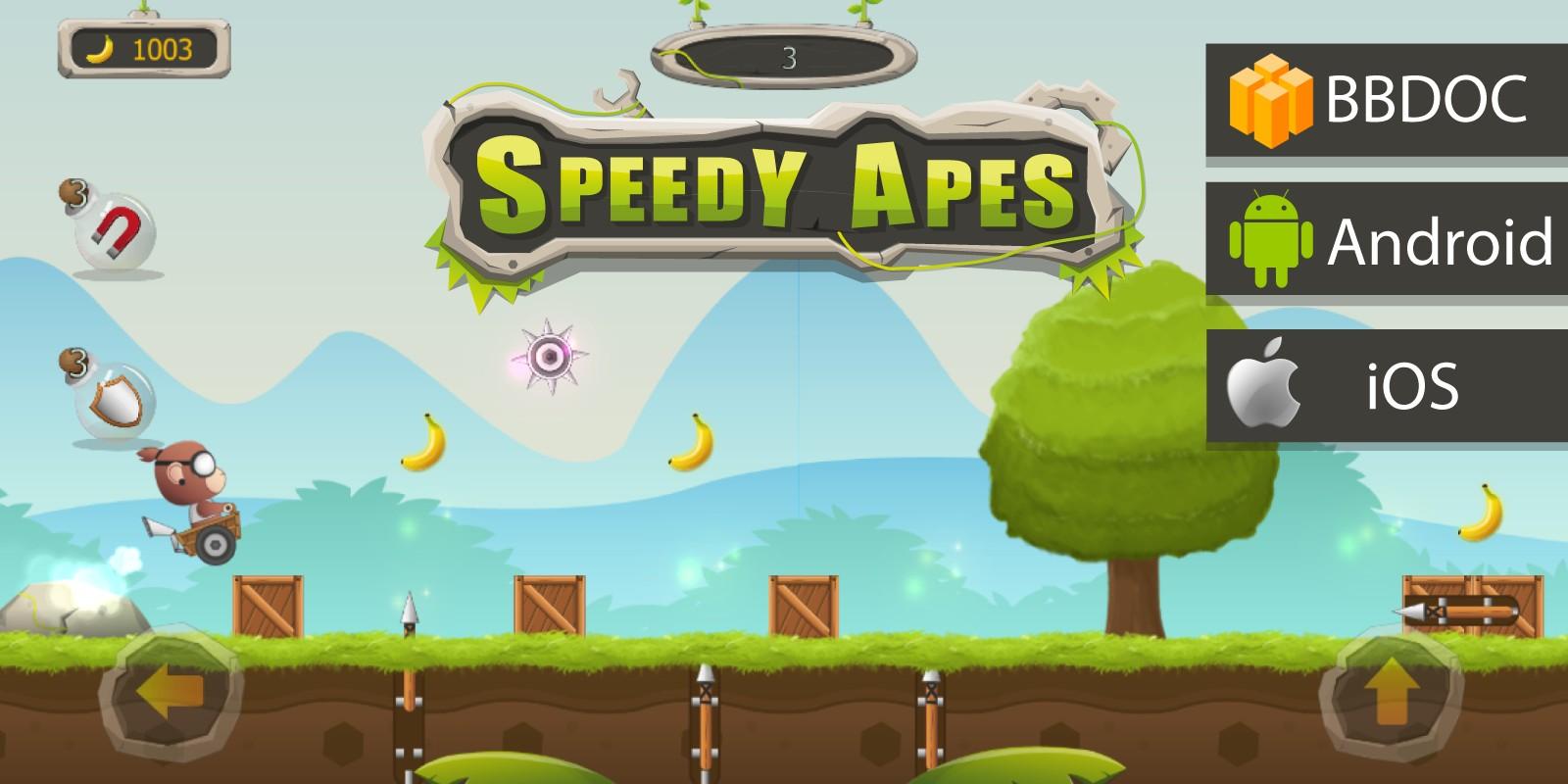Speedy Apes Buildbox Template
