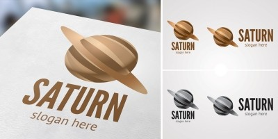Saturn Logo Template