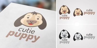 Cutie Puppy Logo
