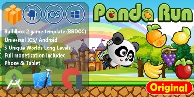 Panda Fruit Run - Buildbox Game Template