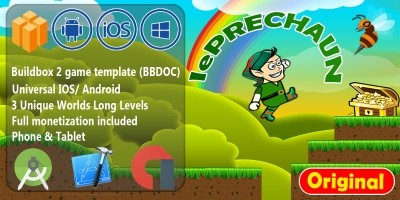 Leprechaun Island - Full Buildbox Game Template