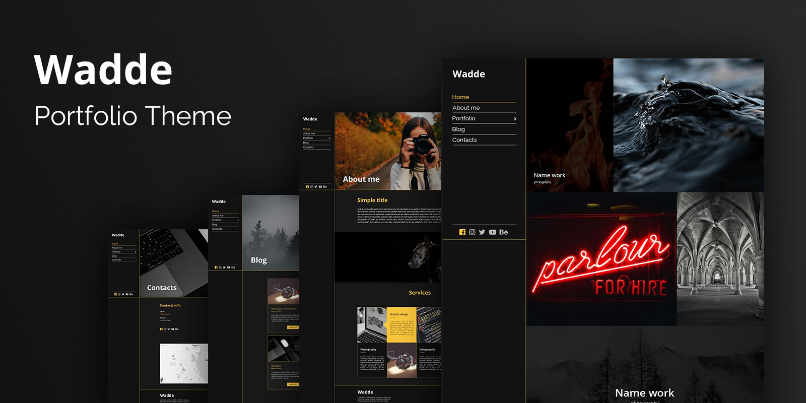 Wadde Portfolio WordPress Theme
