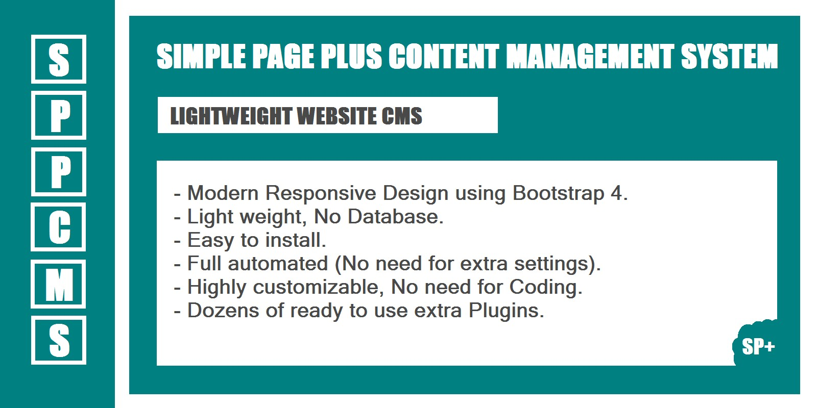 SPPcms - Lightweight Website CMS