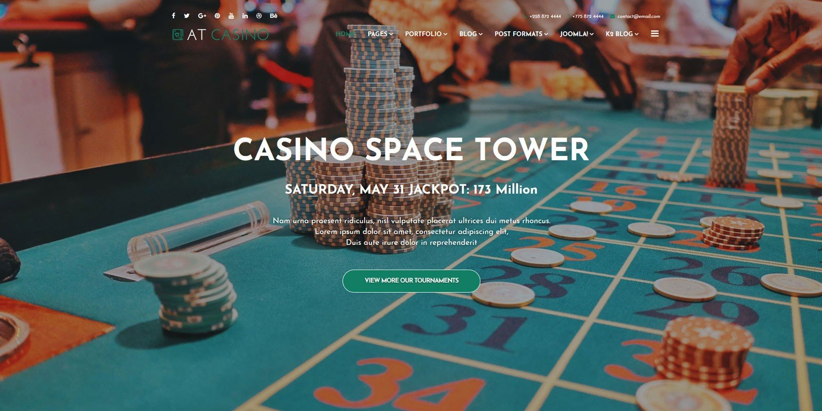 AT Casino Joomla Template