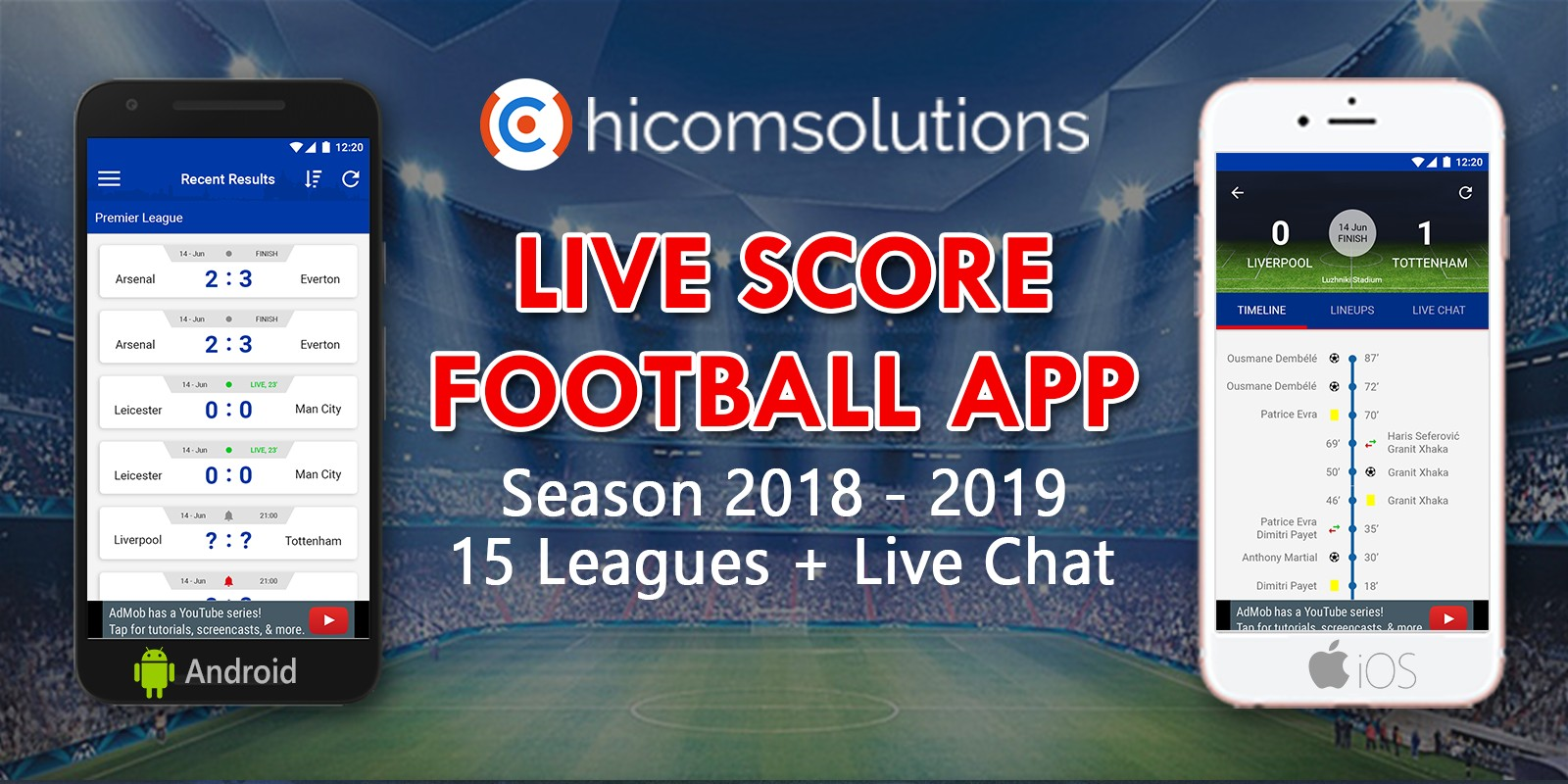 Live Score Football App Season 2018-19 For iOS