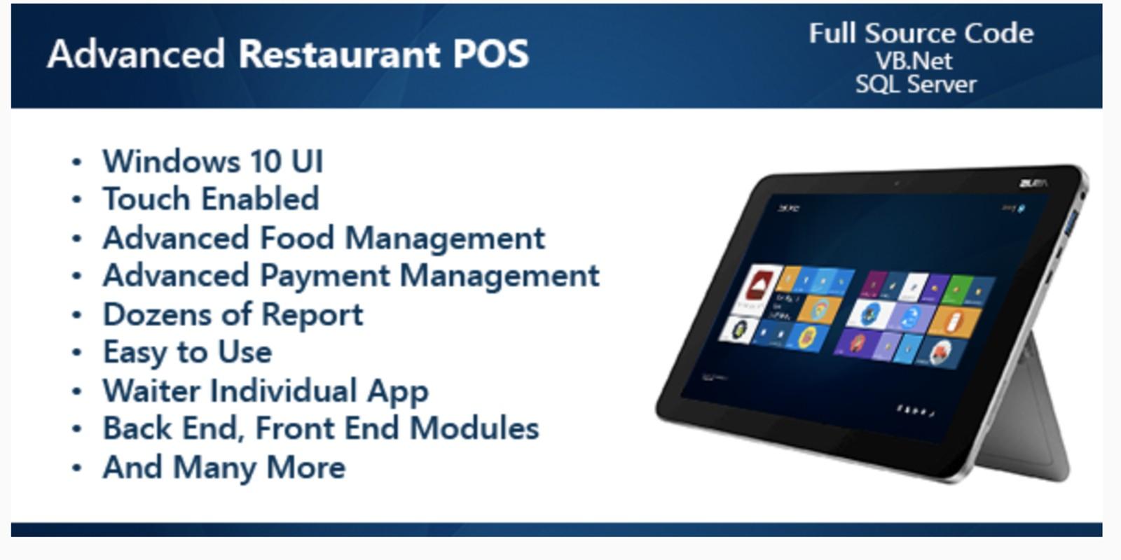 Advanced Restaurant POS  NET
