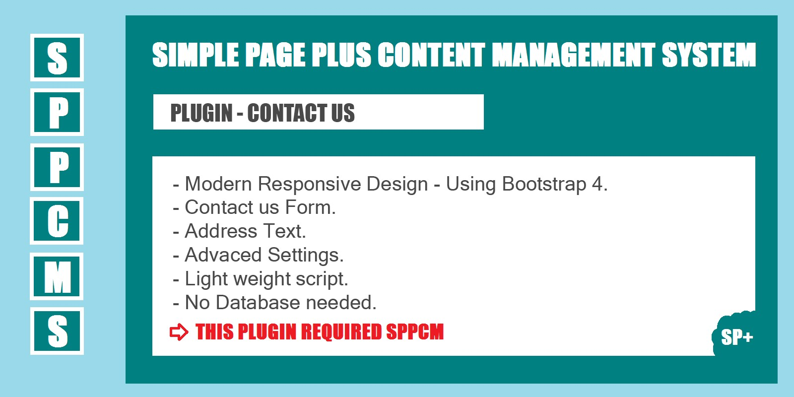 Contact us - SPPCMS Plugin